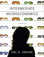 Intermediate Microeconomics A Modern Approach 9th
