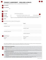 Fd089 Tenancy Agreement England Wales For A Furnished