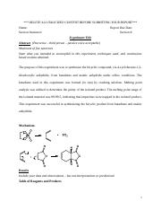 Orgo II - Lab Report 1.docx