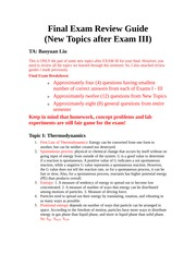 CHM 116 - Final Exam Review Guide