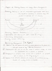 BUS ADM 322 Lecture Notes on Marketing Channels and Supply Chain Management