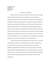Stress and Law Enforcement Essay