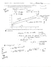 Quiz on Mean Value Theorem