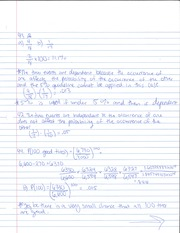 Dependent Events Notes