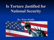 Is Torture Justified for National Security