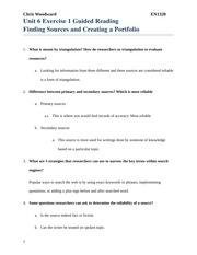 Unt 6 Exercise 1 Guided Reading