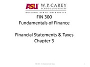FIN 300 Fin Statements Taxes Ch3
