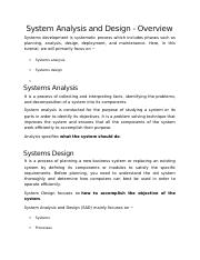 System Analysis and Design1(1).docx