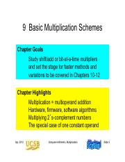 Chapter 09 Basic Multiplication Schemes
