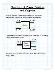7_1 Basic Properties of Dividers and Couplers.pdf