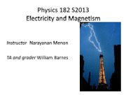 Lab 1 Slides electrostatics