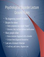 Psychological Disorders PP
