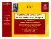 Viterbi Lecture_System And Circuit Level Noise model Analysis