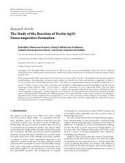 The Study of the Reaction of Pectin-Ag(0) Nanocomposites Formation.pdf