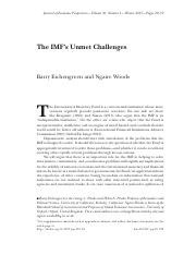 FIN4651 Module8 Reading -The IMF's Unmet Challenges.pdf