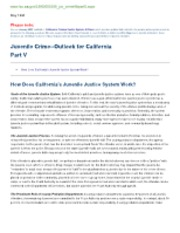 HOW DOES THE JUVENILE JUSTICE SYSYTEM WORK