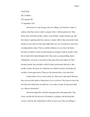 (2) Exemplification Essay