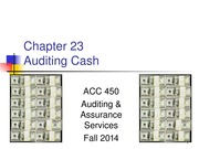 ACC 450 22 Auditing Cash Fall 14