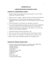 Lab Review Questions II