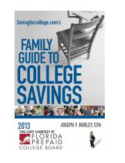 Family Guide to College Savings 2013 - Florida Prepaid