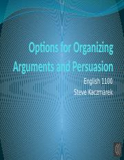 Options for Organizing Arguments and Persuasion.pptx