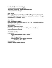 MEDS 301 Notes on Forensic Pathology (Body Decomposition)