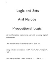 MATH 4130 - (SUPPLEMENT) Logic and Sets