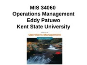 Chapter 1 lecture notes introduction to operations mangement