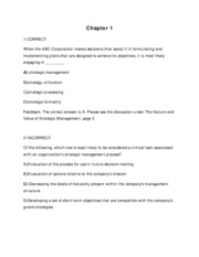 Strategic Management  Chapter 1  Strategic Management