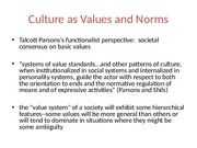 Culture as Values and Norms(week 2)