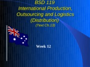 Week 12 International Logistics