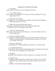 Guidelines for Works Cited Pages
