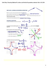 Graphing Rational Functions and Vertical Asymptotes