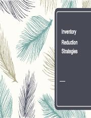 8.2 Inventory Reduction Strategies