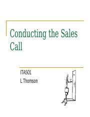 Conducting the Sales Call.ppt