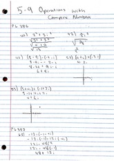 Homework, Operations with Complex Numbers