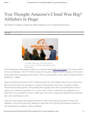 You Thought Amazon's Cloud Was Big_ Alibaba's Is Huge - Bloomberg Business