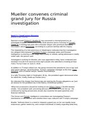 Mueller convenes criminal grand jury for Russia investigation.docx