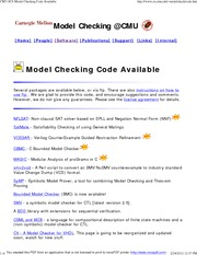CMU-SCS Model Checking Code Available