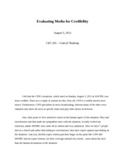 Evaluating Media for Credibility