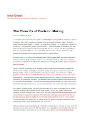 The Three Cs of Decision Making _ Inta-Great