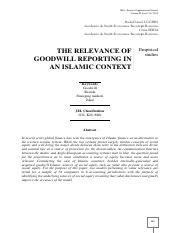 the relevance of goodwill reporting from islamic perspective.pdf