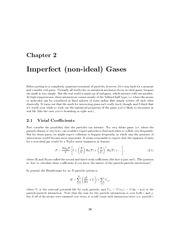 imperfect gases