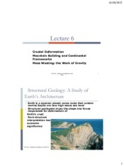 Lecture 6_Crustal deformation and mountain building