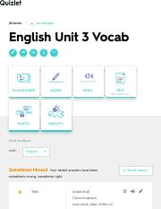 English Unit 3 Vocab Flashcards | Quizlet
