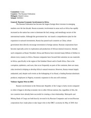 Russia Crisis Position Paper