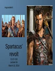 spartacus slave revolt essay Spartacus was a gladiator, from thrace little is known of him the historian   revolts of the slaves were frequent in the roman world, in the years from 133  and.