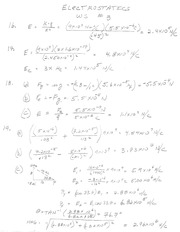 Chapter 16 Electrostatics WS -2