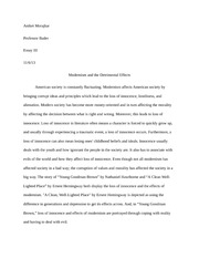 a clean well lighted place documents course hero en102 modernism and its effects essay 4