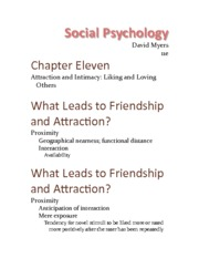 Chapter 11 - Attraction & Intimacy